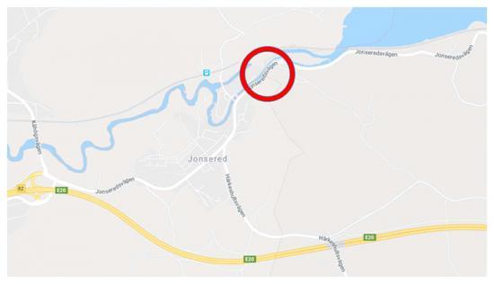 Här är området som för tillfället är avstängt för trafik.