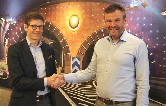 Jonas Fack,vdPurac, och Mika Sundholm, projektchef på Bravida.