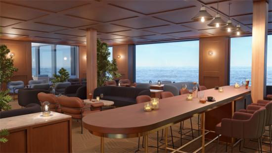 Fartygets i<span><span>nteriör utmärks av tidlös men lekfull design, det nordiska ljuset, hållbarhet och digitala lösningar (bilden är en illustration).</span></span>