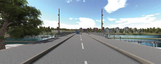 Visionsbild över Stridsbergsbron (bilden är en illustration).