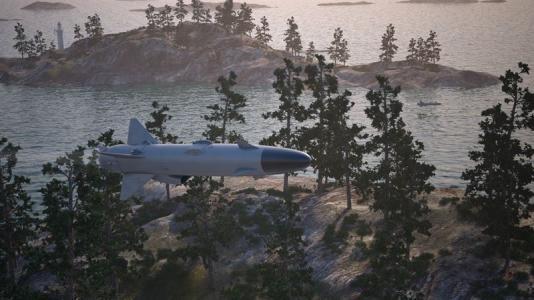Sjömålsroboten RBS15 (bilden är en illustration).