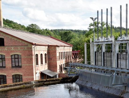 Bilden tagen vid vattenkraftverk i Jonsered.