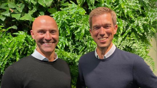 Från vänster: Erik Svensson och Hans Lundin, vd, Structor Mark Stockholm.