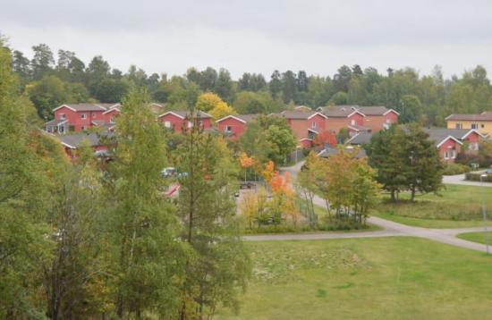 Området Björklinge där 360 villor är uppkopplade mot ett smart elnät.