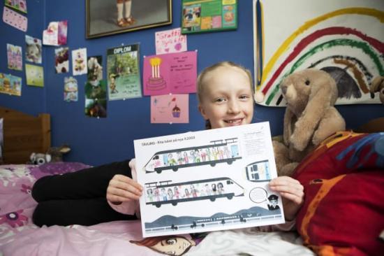 Sigrid Lättman-Masch vann SJs teckningstävling Barn ritar lok.