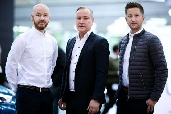 Daniel Haglöf, PWR Racing, Patrik Grantås, Skellefteå Kraft, och Robert Dahlgren.