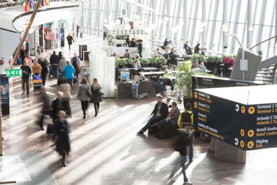 <span>Bild på Sky City på Stockholm Arlanda Airport.</span>