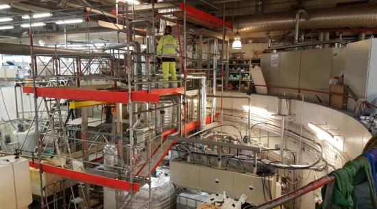 Pilotanläggningen på Hammarby Sjöstadsverk. Här ska kväve utvinnas ur avloppsvatten.