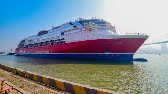 Viking Glory sjösätts för första gången i Xiamen, 26 januari 2021.