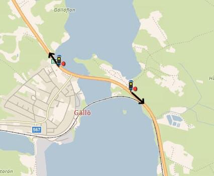 Placering E14 Gällö.
