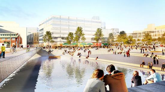 Göteborg utvecklar stationsområdet. Bild från stadsutvecklingsprogrammet (bilden är en illustration).