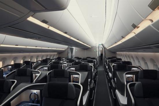 """SAS Business betsår av 40 säten som bland annat är utrustademed 18,5"""" skärm för in-flight entertainment med högre upplösning."""