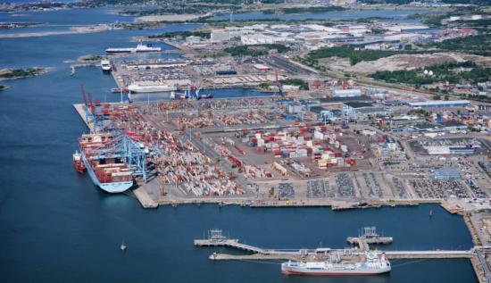 Under 2018 hanterades 753 000 containrar (TEU) i Göteborgs hamn.