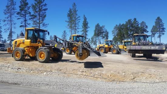 Swecon ser till att förberedelserna, driften och underhållet under tävlingen går smidigt med maskiner från Volvo Construction Equipment.