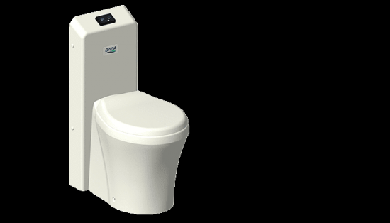 Vad lätt! VA-lätt! Toalett! BAGA Valett är en extremt snålspolande, ultratyst toalett.