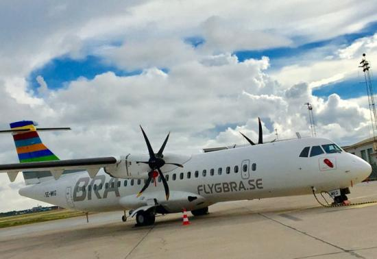 Flygplan från flygbolaget BRA.
