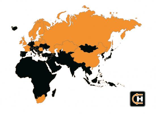 Hydroscand Group är etablerade i många länderöver flera världsdelar.