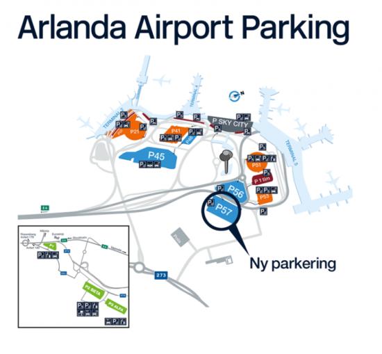 Stockholm Arlanda Airports nya terminalnära parkering.