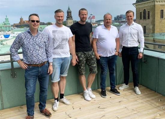Ulf Bergquist, Daniel Nihlén, Thomas Nihlén, Håkan Andreasson och Gustaf Larsson Ernefelt.