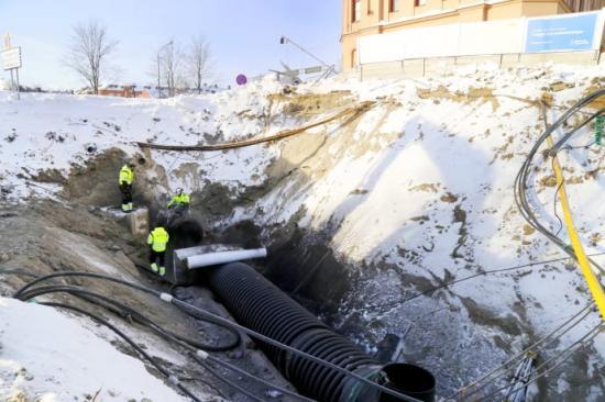 MittSverige Vatten & Avfall har idag fredag gjort de sista kopplingarna på Strandgatan.