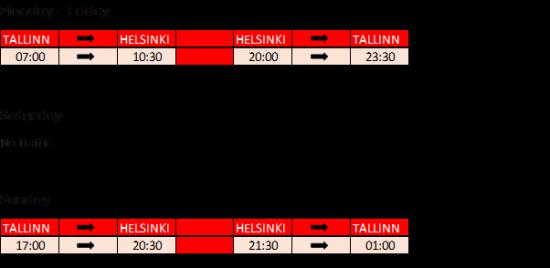 <span><span><span><span>Trafiken mellan Helsingfors och Tallinn fortsätter med en reducerad tidtabell.</span></span></span></span>