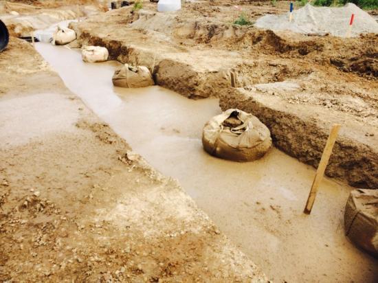 Produkten är grävbar efter stelningsprocessen.