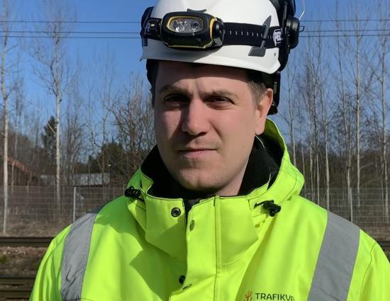 Adam Larsson, projektledare Trafikverket.