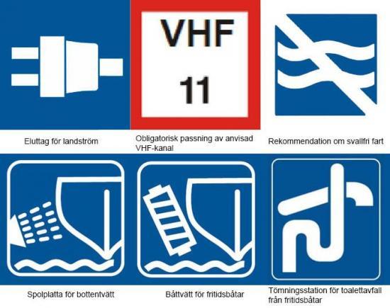 En nyhet i reglerna är att områdena ellutag för landström, obligatorisk passning av anvisad VHF-kanal, rekommendation om svallfri fart, spolplatta för bottentvätt, båttvätt förfritidsbåtad samt tömningsstation för toalettavfall för fritidsbåtar blir obligatoriska att utmärkas.