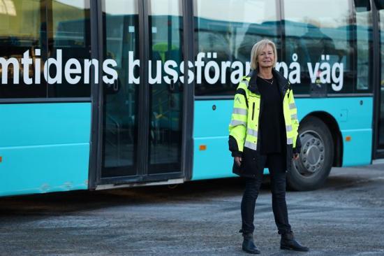 Marie Ridén, chef för Keolis trafikskola.