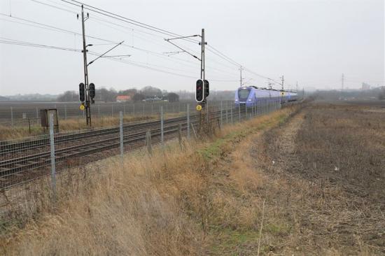 Järnväg, Flackarp mot Lund NCC.