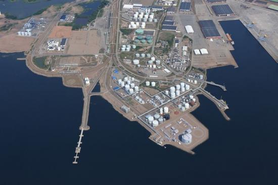 <span>LNG-terminalen i Fredrikshamn,Finland.</span>