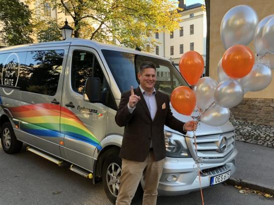Björn Grane är affärschef för Flygbussarna Door to Gate och tycker att framtiden ser ljus ut för tjänsten.