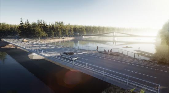 Vinnande förslaget: järnvägsbron Kinetik (bilden är en illustraton).