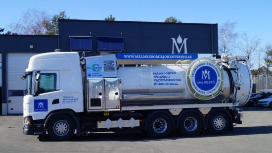 Malmberg Miljöhanterings nya recyclingbil.