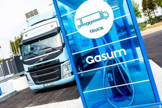 Gasum har öppnat sin andra tankstation med flytande gas för tunga fordon.