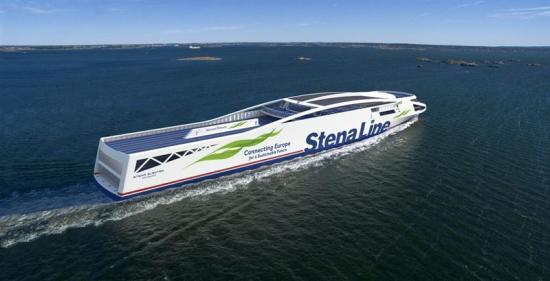 Batterifärjan Stena Elektra (3D-visualisering) ska sjösättas på linjen Göteborg-Fredrikshamn senast 2030.