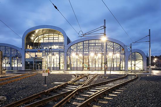 Aga-depån, nominerad till Trafikverkets arkitekturpris.