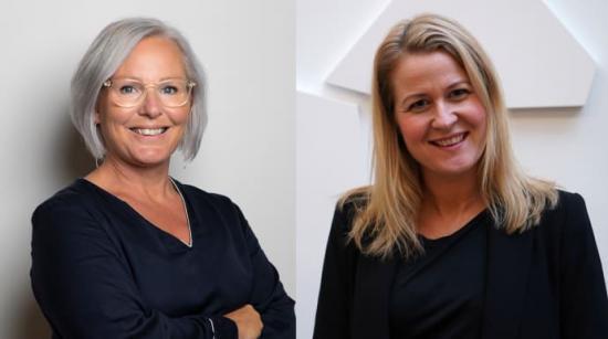 Anna Yman, ny International Business Manager för Sweco Sverige, och Martina Söderström, ny vd för Swecos vatten och miljöverksamhet i Sverige.
