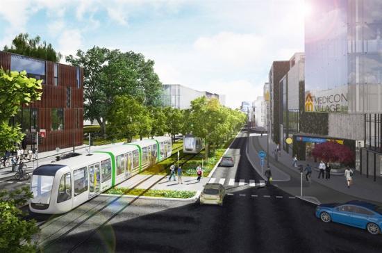 Visionsbild Sölvegatan Byline Metro Arkitekter och Lunds kommun