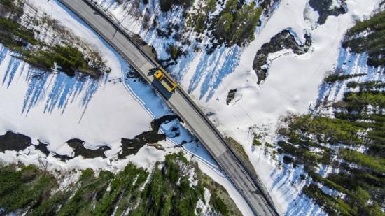 Svevia sköter drift och underhåll av det statliga vägnätet inom driftområde Viskadalen.
