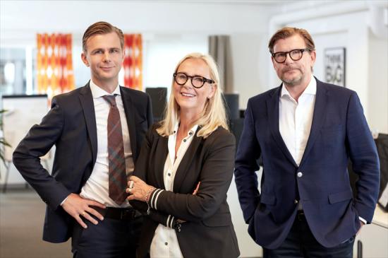 Oscar, Karin och Peder Törnqvist.