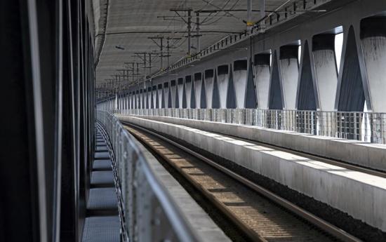 Järnvägen på Øresundsbron.