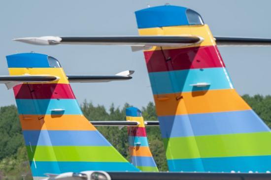 På Bromma flygplats.
