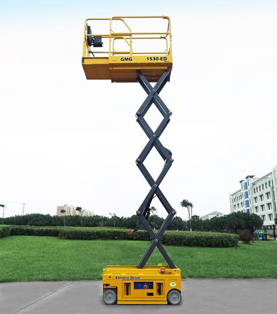 Den elektriska saxliften 1530-ED kom högt när bästa personlift kårades. Den endast 860 kg tunga liften säkrade att GMG fick förstaplatsen.