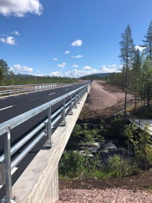Ny vägsträckning väg 1053 Stora Tandån.