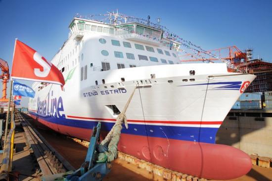 Den första E-Flexern, som får namnet Stena Estrid,sjösattes den 16 januari.