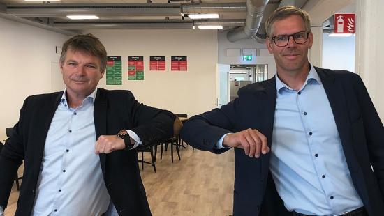 Niklas Bergman, förvaltningschef Region Stockholm och Lars Stendius, vd YIT Sverige \