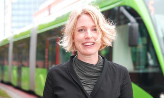 Iris Rehnström, miljö- och hållbarhetsansvarig på Skånetrafiken.