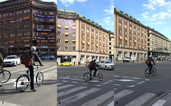 Så funkar det:<br /><ol><li>Vid rött ljus väntar man som vanligt. Vid grönt ljus cyklar man rakt fram och något till höger för att stanna i den speciellt markerade väntytan som finns framför övergångsstället.</li><li>I väntytan inväntar man grönt ljus. Nya trafiksignaler finns i korsningen för att göra det tydligt när det blir grönt.</li><li>Vid grönt ljus cyklar man rakt fram och kan på så vis svänga vänster genom korsningen åt alla fyra håll på ett tryggare och enklare sätt.</li></ol>