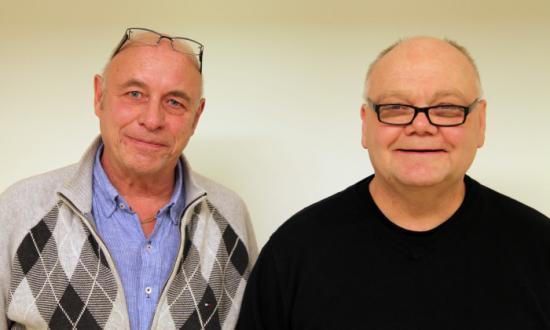Fr v arbetschef Jimmy Perneland samt driftsdirektör Jörgen Grelson vid RAVN Bane AB.